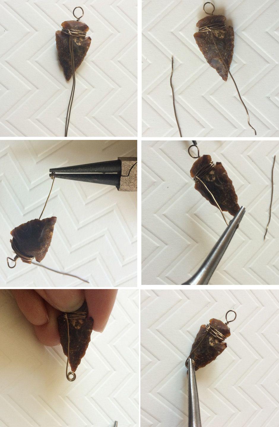 How To Wire Wrap An Arrowhead – Free Tutorial | Jewelry Tutorials ...