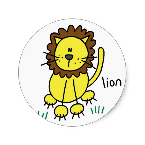 Lion Stick Figure Stickers Sticker