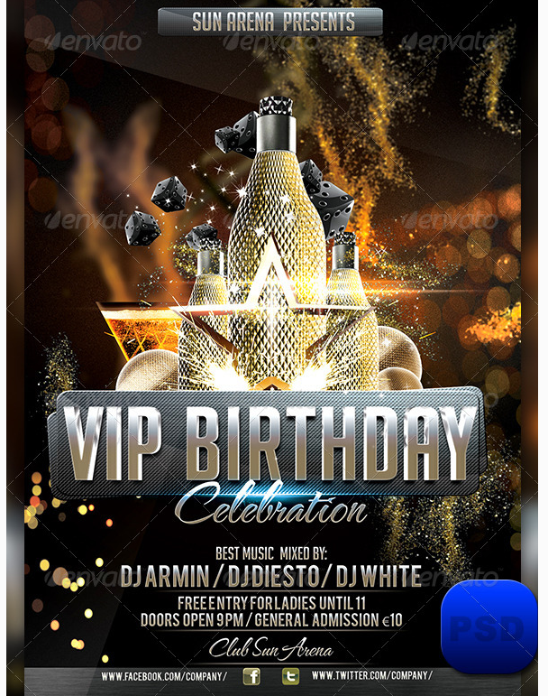 Vip Birthday Party Flyer Party Flyer Templates For Clubs Business Marketing Party Flyer Flyer Template Flyer