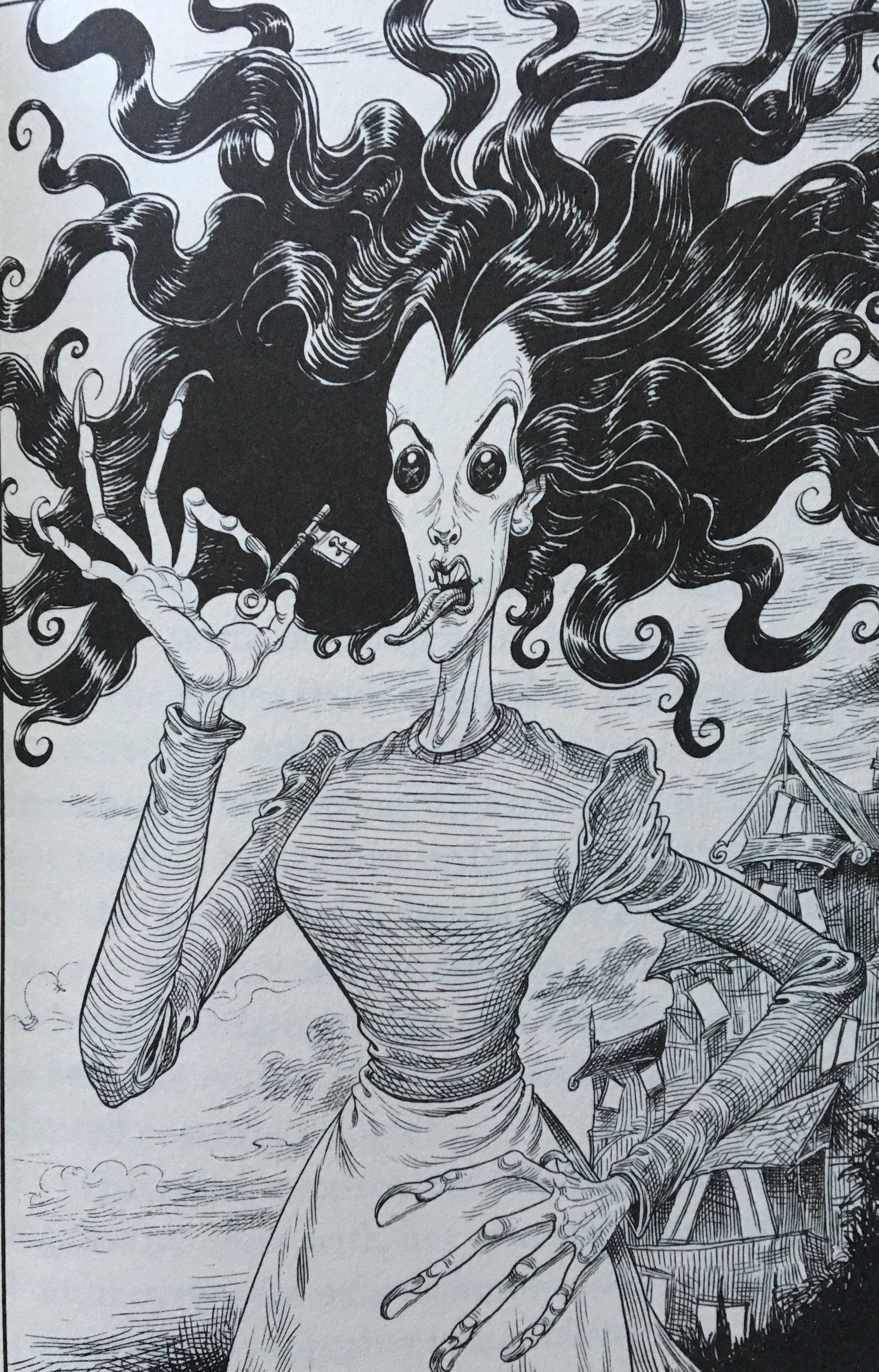 Chris Riddell Illustration From Neil Gaiman S Coraline Illustration Book Art Illustration Coraline Book