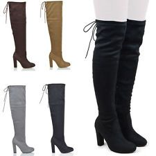 boots in Womens Clothing Shoes and Heels Womens Thigh High BootsKnee  StretchesThe