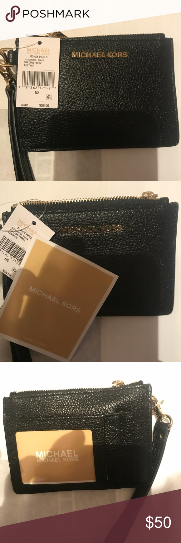 227623e88625 🌹Michael Kors Small Mercer Leather Coin Purse🌹 Michael Kors Small Mercer  Leather Ruffled Coin Purse Bags Clutches   Wristlets