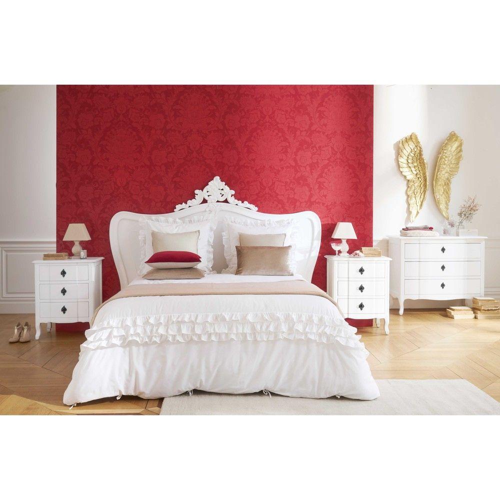 Tête de lit 180 en pin blanc vieilli   Ma chambre cosy parfaite ...