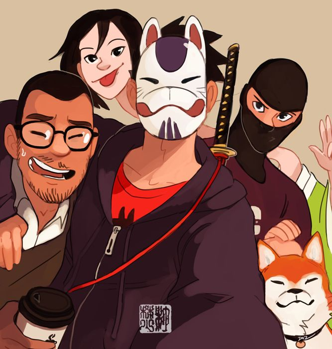 Character Design Group : Group selfie by tohdraws on deviantart illustration