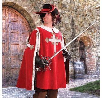 Deluxe Cardinal Velvet Adult Costume