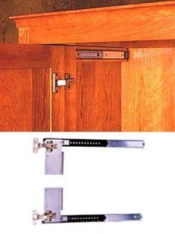 pivot door slide hardware for media cabinet