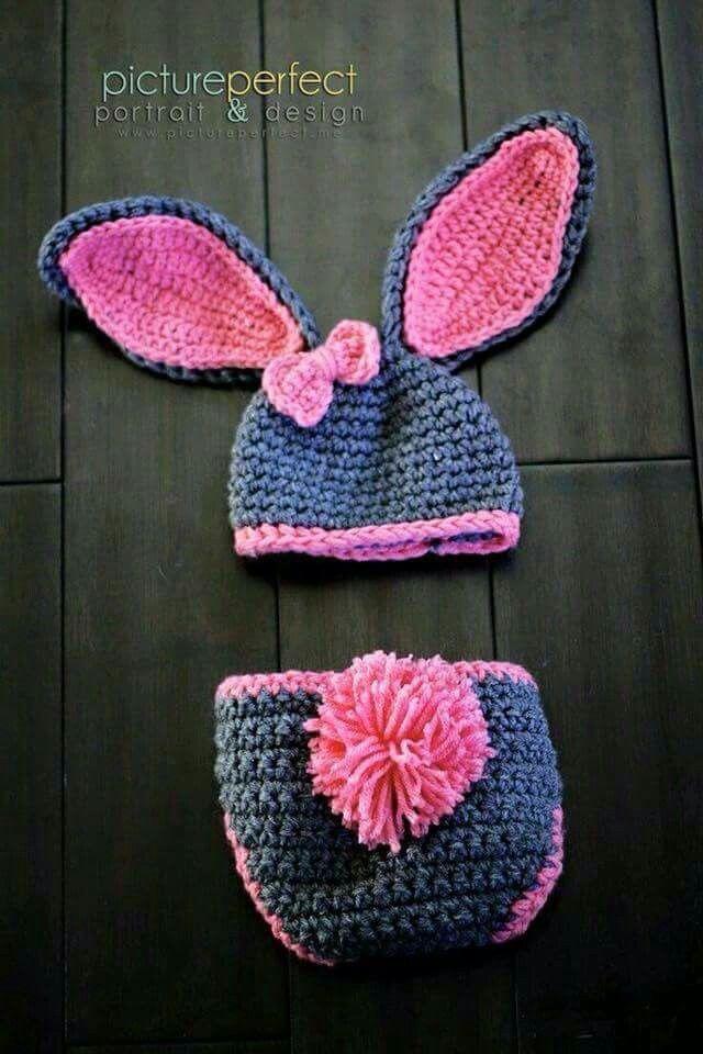 Cubre pañal de conejo | Bebes | Pinterest | Cubre pañales, Conejo y ...