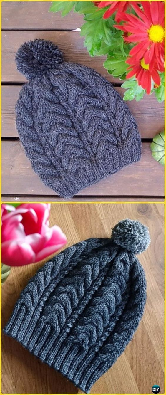 Knit Ribbed Cable Hat Free Pattern | Free pattern, Cable and Crochet