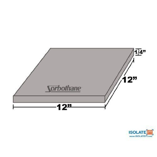 Isolate It Sorbothane Vibration Damping Sheet Stock 70 Duro 1 4x 12 X 12in By Isolate It 32 95 Isolate I Furniture Pads Sheet Dryers For Sale