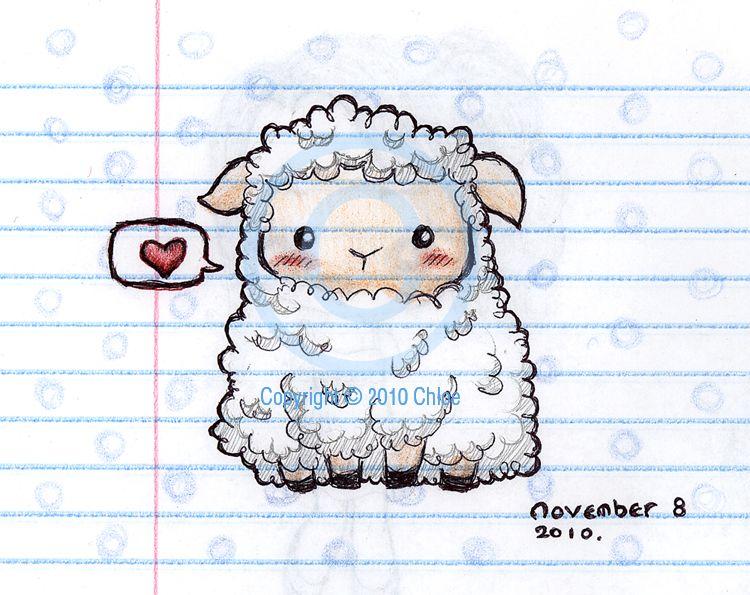 Sheep Sketch By Tsukarii On Deviantart Sheep Drawing Cute Drawings Drawings