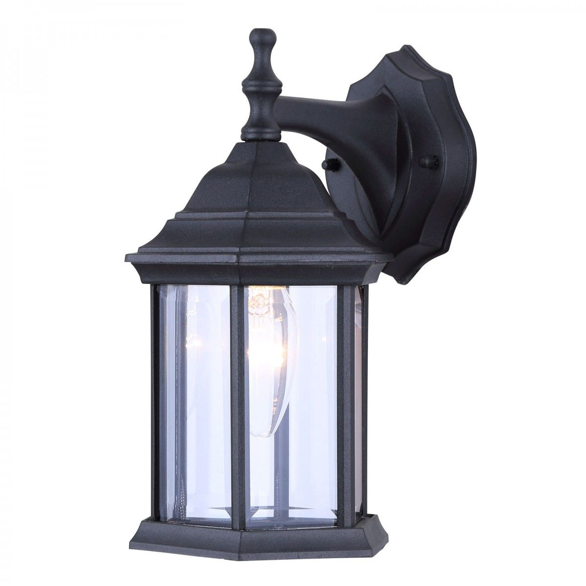 Canarm Iol4bk Exterior Wall Lantern Light Fixture Outdoor Sconce Matte Black With Images Lantern Light Fixture Exterior Wall Light Lantern Lights