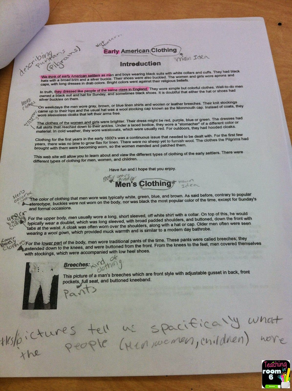 Main Idea Of Expository Text Reading And Writing With
