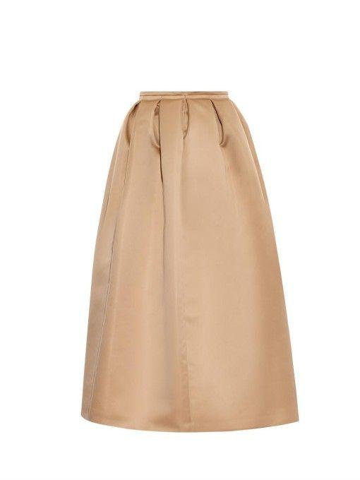 2c9bb387c8 Rochas Pleated full duchess-satin skirt | fashion and style | Satin ...