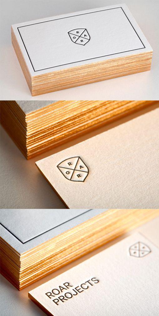 Classic Minimalist Design Black And White Letterpress Business Card