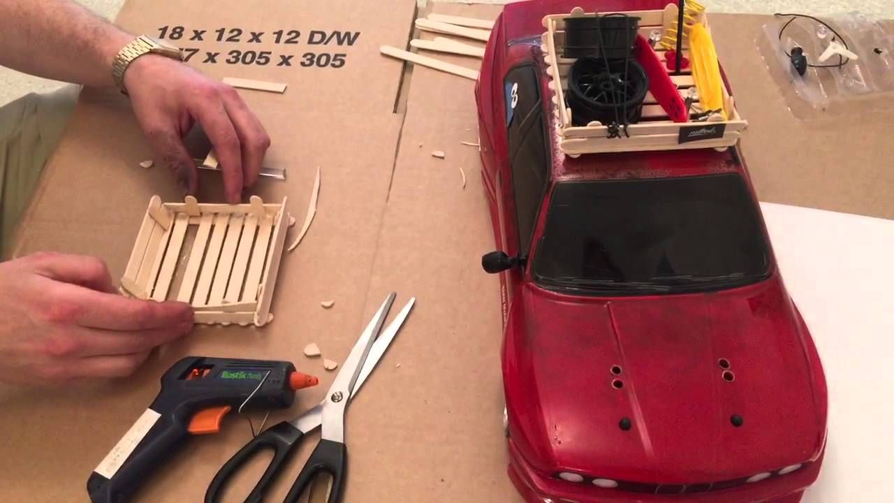 How To Make A Rat Look Roof Rack For Your Rc 1 10th Scale Drift Car Rock Drifting Cars Roof Rack Rat Look
