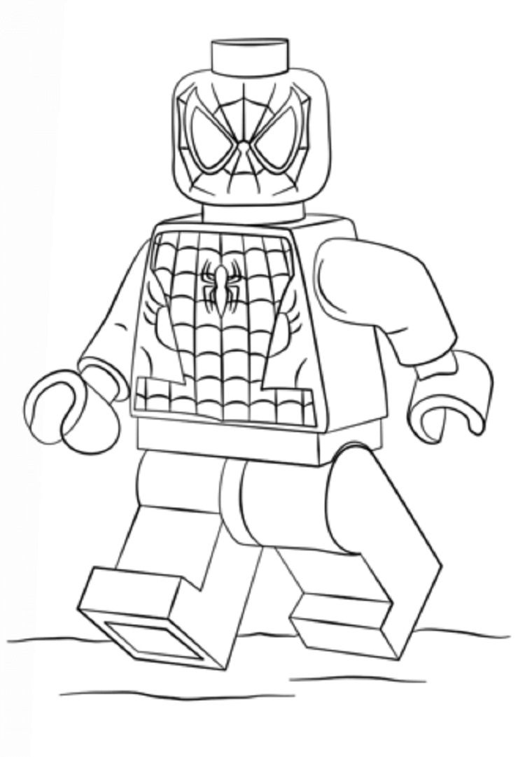 Spiderman Coloring Pages Lego Coloring Pages For Kids In 2019