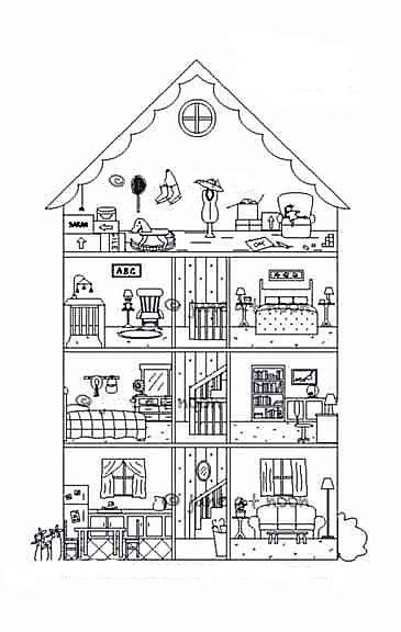 Pin by micheala j on christmas coloring pages building for Disegno interno casa
