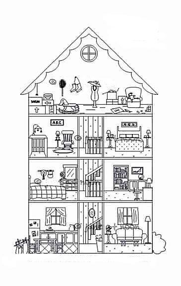 мест картинка трех этажного дома срисовать с комнатами вам терпения