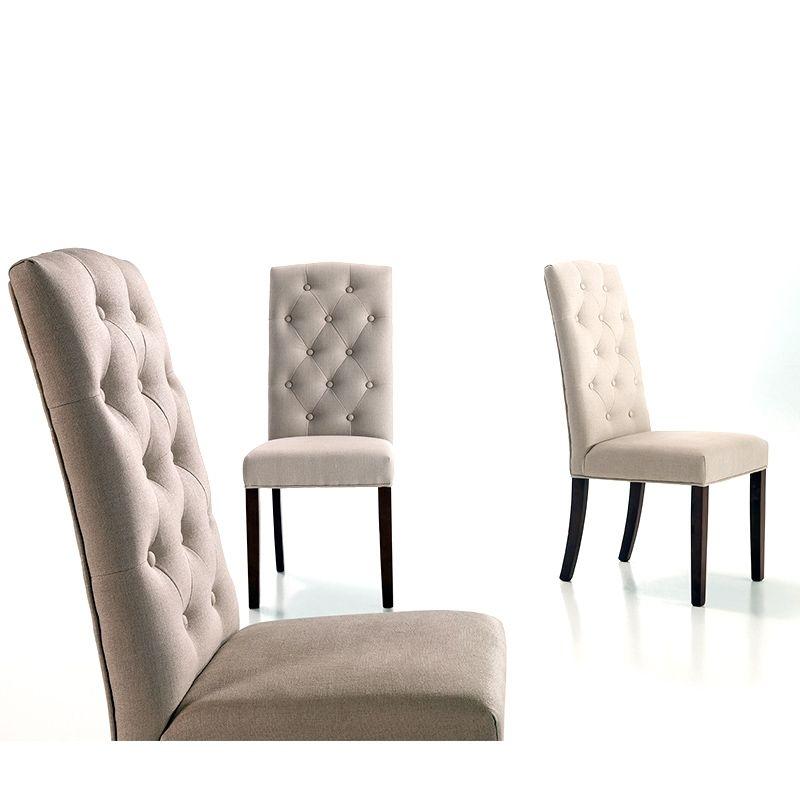 venta online de sillas - silla capitone tapizada en lino - 132,50 ...
