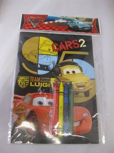 12 Set Disney Pixar Cars Coloring Book With Crayons Birthday Party Favors Goody Bag Gift By Fab 19 99 Ea Crayon Birthday Parties Cars Birthday Party Goodies