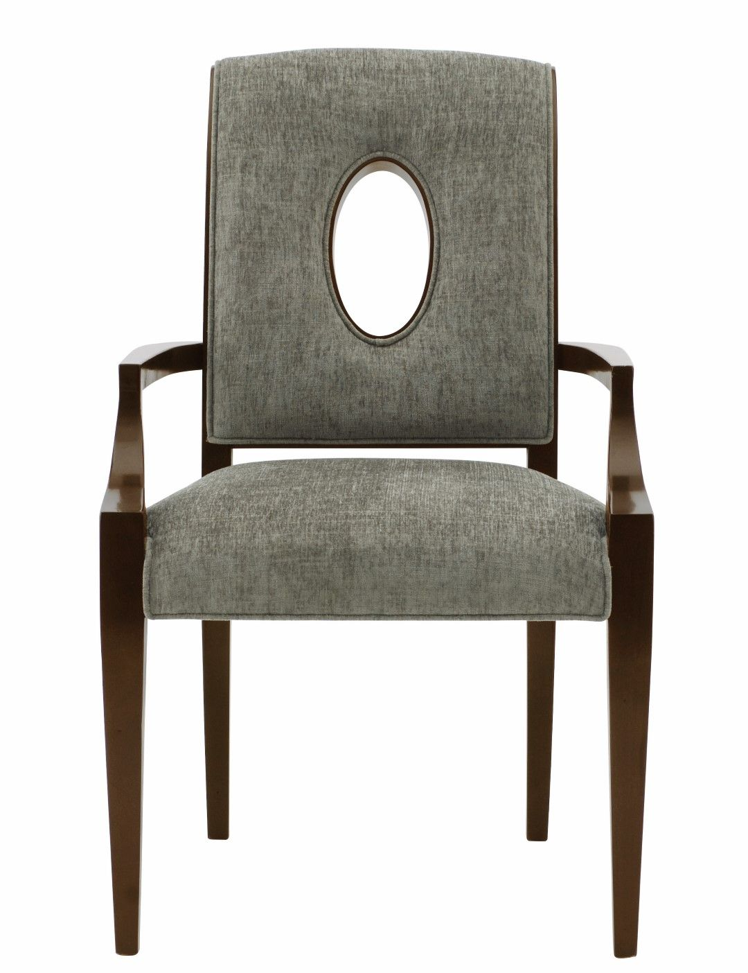 Comfortable arm chairs - Bernhardt Furniture Miramont Arm Chair Open Wood Framed Oval Shape In Chair Back