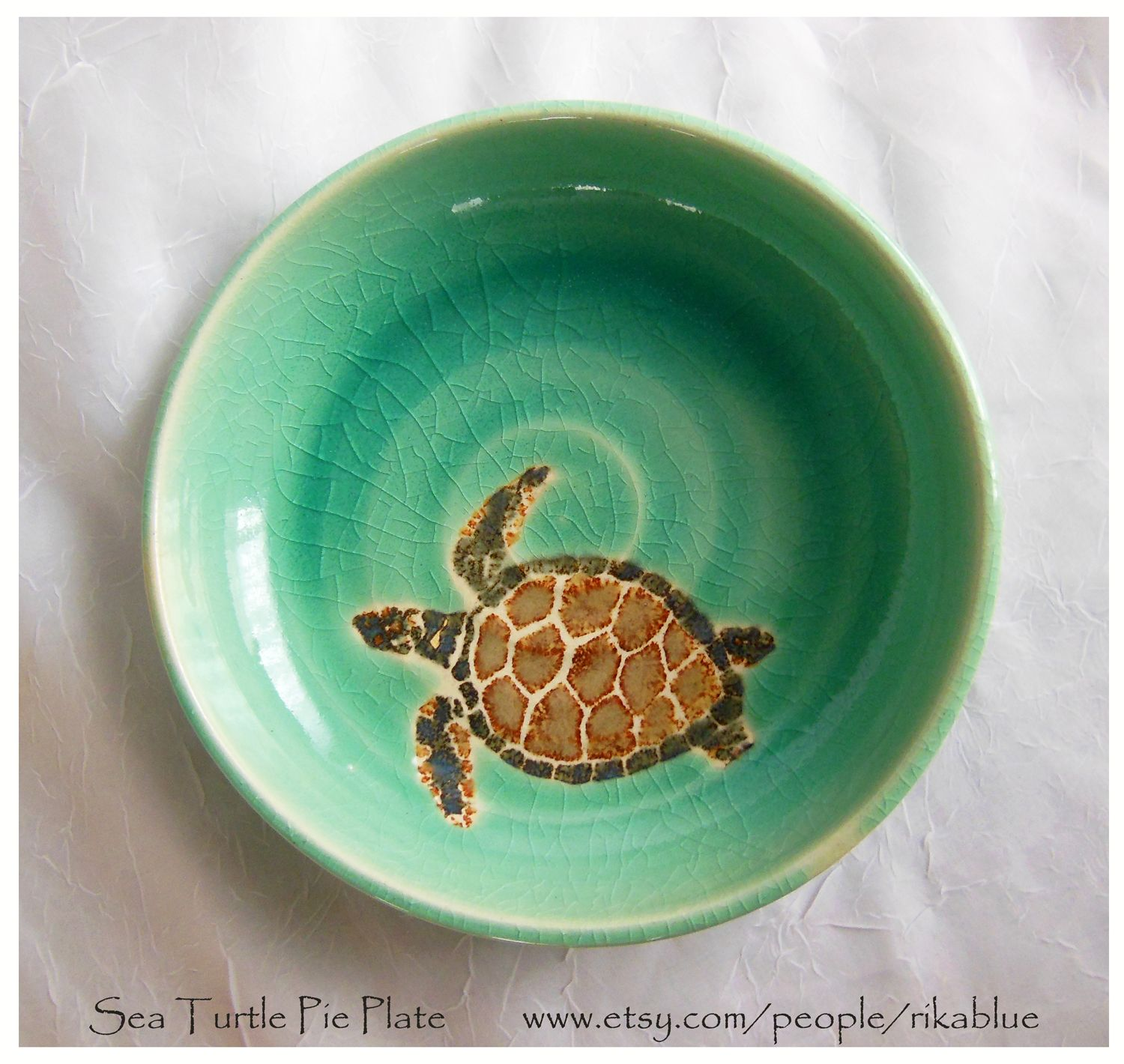 Fresh From The Kiln Sea Turtles Beach Decor Pottery