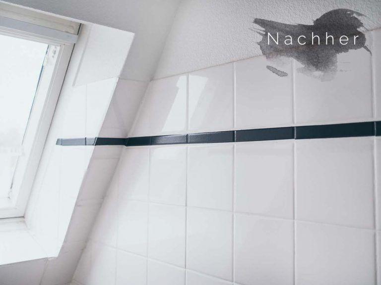 Diy Fliesen Streichen Im Bad Badezimmer Makeover Teil 2 Fliesen Streichen Diy Fliesen Und Fliesen