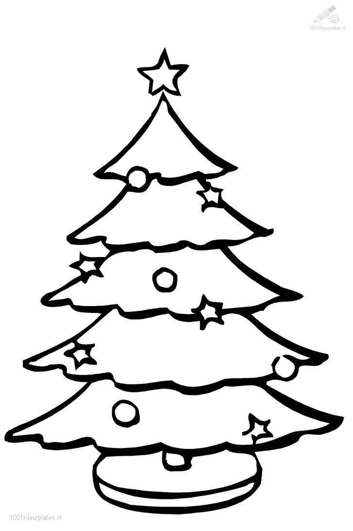 Kleurplaten Kerstmis Gratis.Kleurplaat Kerstboom Kerstmis Kleurplaten Kerstmis