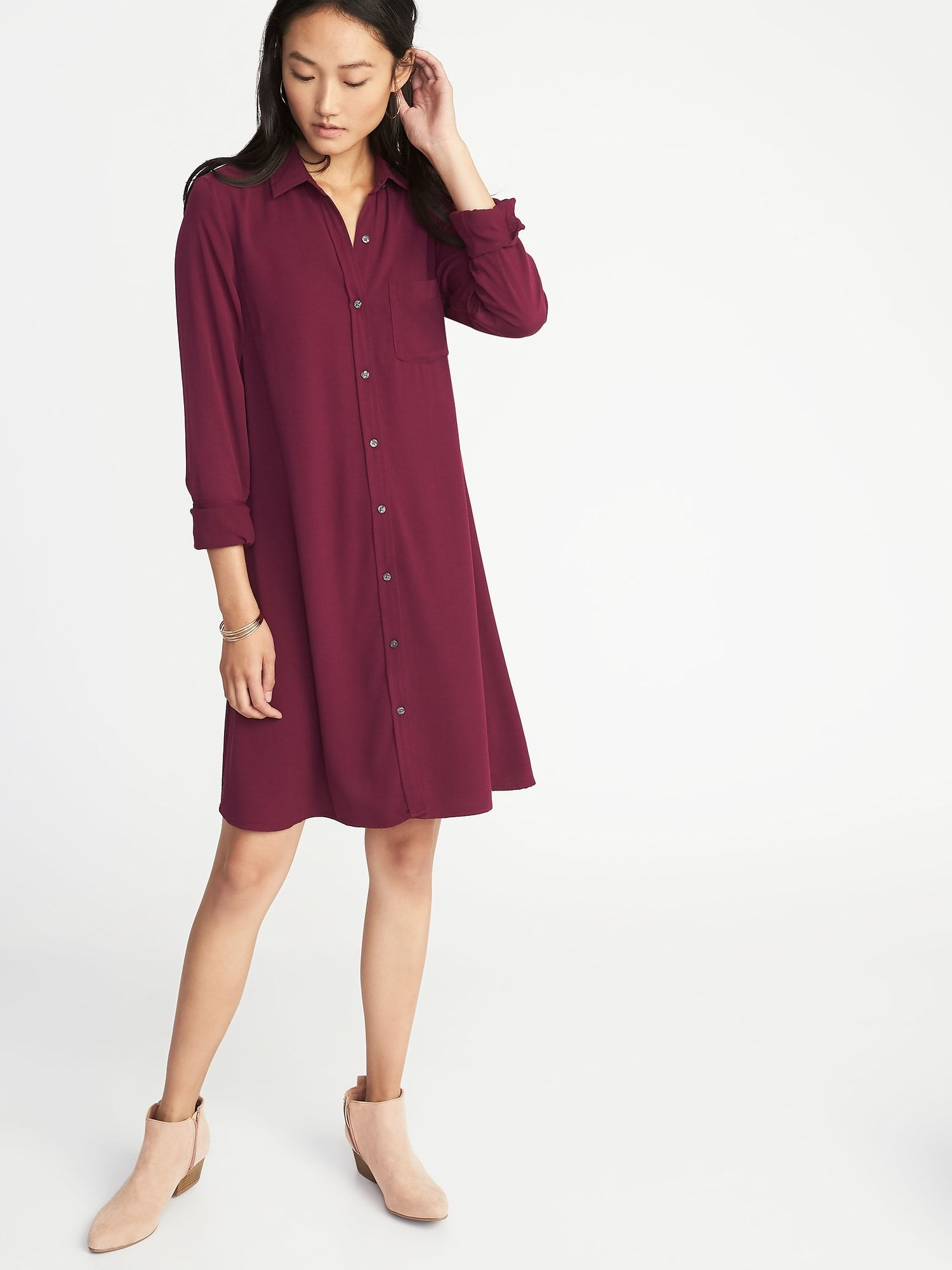 24e0892d37860 Swing Shirt Dress for Women | Old Navy | We Never Go Out of Style ...