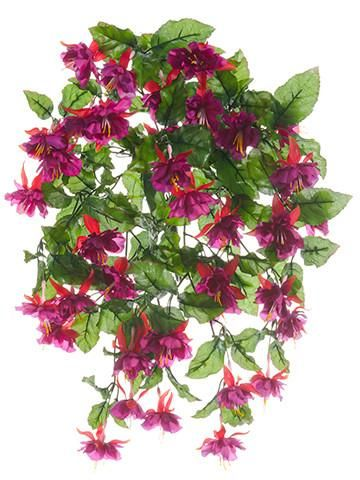 Violet purple silk fuchsia flower hanging bush wedding ideas violet purple silk fuchsia flower hanging bush mightylinksfo