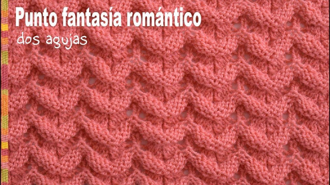 Tejiendo Peru Tutorial Amigurumi : Punto fantasía romántico tejido en dos agujas tejiendo perú