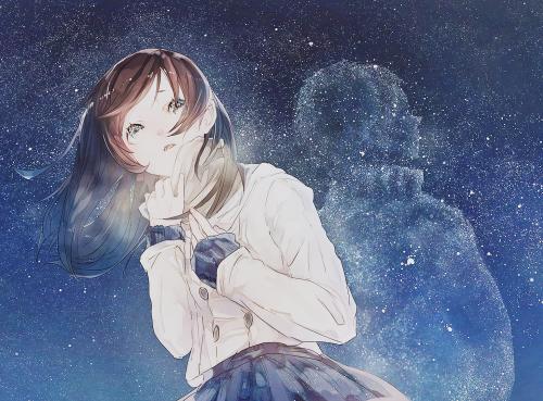 anime galaxy stars Otaku pixiv Anime girl anime edit cute