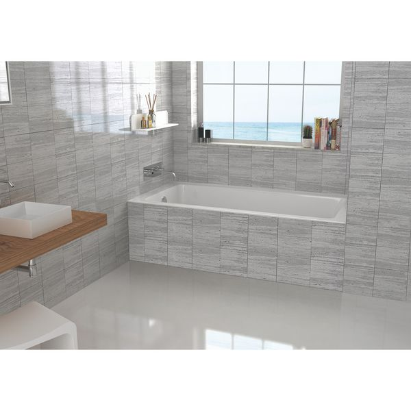 Fine Fixtures Alcove Bathtub With Left Side Fixed Tile