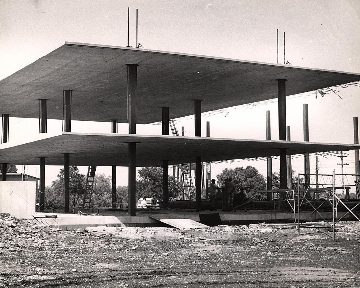 Lift slab construction trinity university 1952 are for House slab design