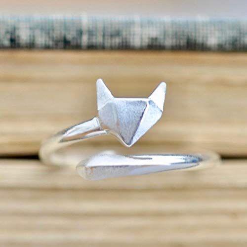 Photo of Neuer Origami Fox Ring Sterling Silber Größe Large (7.5-9.5) online – Youllfindoffer