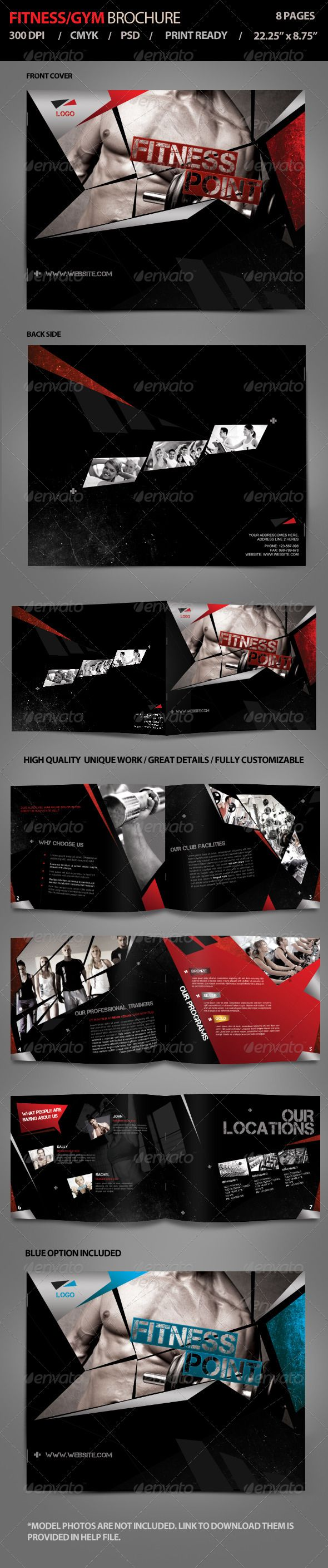 Fitness  Gym Brochure Vol  Brochures Gym And Print Templates
