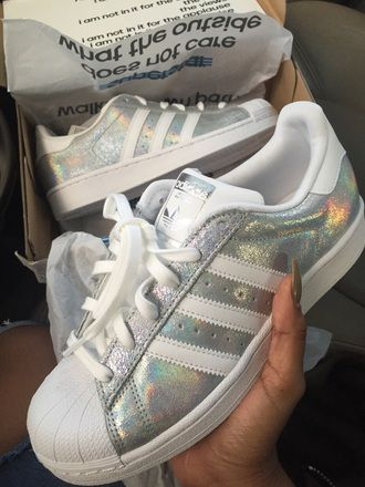 shoes adidas superstar nike silver iridescent white adidas