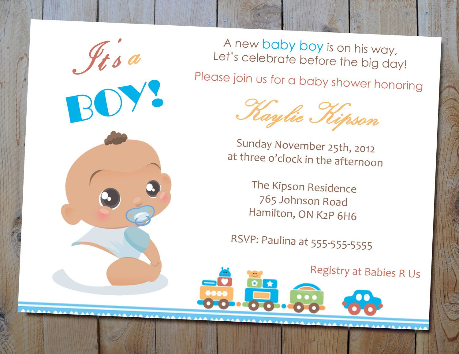 baby boy shower invitation baby shower invitation card pinterest