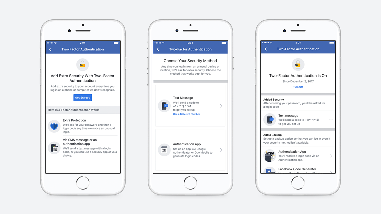 Facebook Now Allows 2FA Logins Without A Phone Number