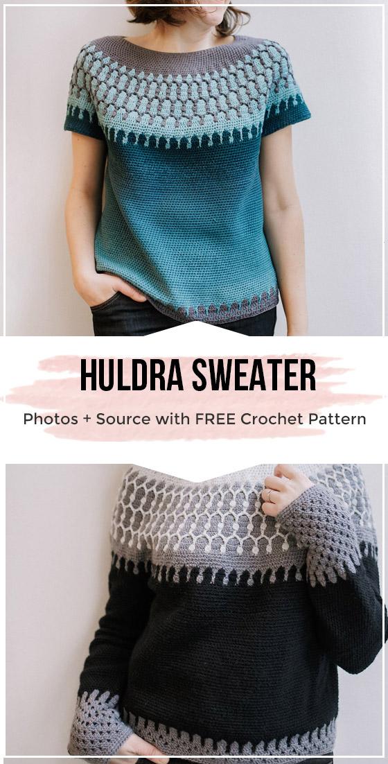 Photo of Crochet HULDRA Sweater pattern – easy crochet sweater pattern for beginners #Hä…
