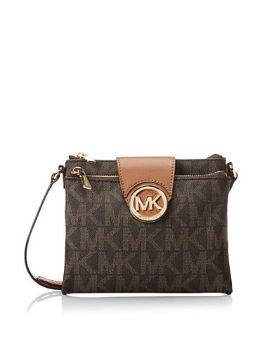 Michael Kors Fulton Brown Large Crossbody Bag 32F3GFTC3B Michael Kors  http://www.