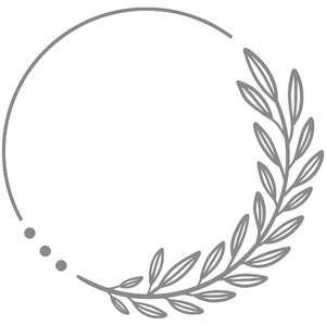 Silhouette Design Store: Single Foliage Circle Wre