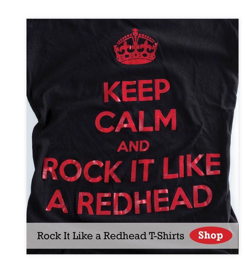 3bb63ae3 Keep Calm and Rock it like a Redhead Official T-Shirt – Black $20.87 ...