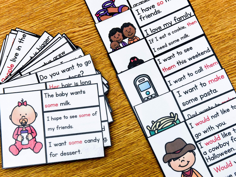 Kindergarten (Primer) Kindergarten Sight Word Sentence worksheets ...