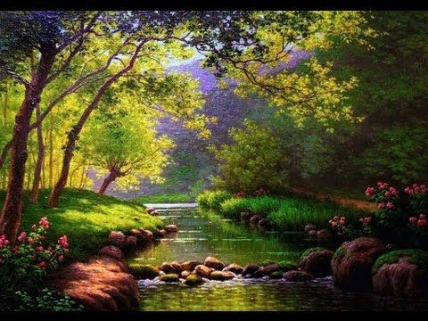 Forest And River Oil Painting Paint With Igor Saharov Youtube Landscape Paintings Famous Landscape Paintings Easy Landscape Paintings