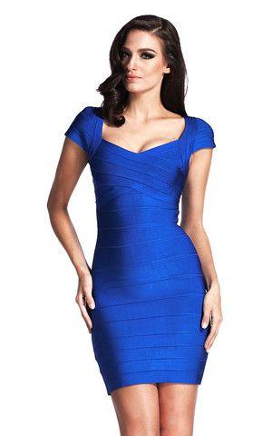Blue Classic Bandage Dress