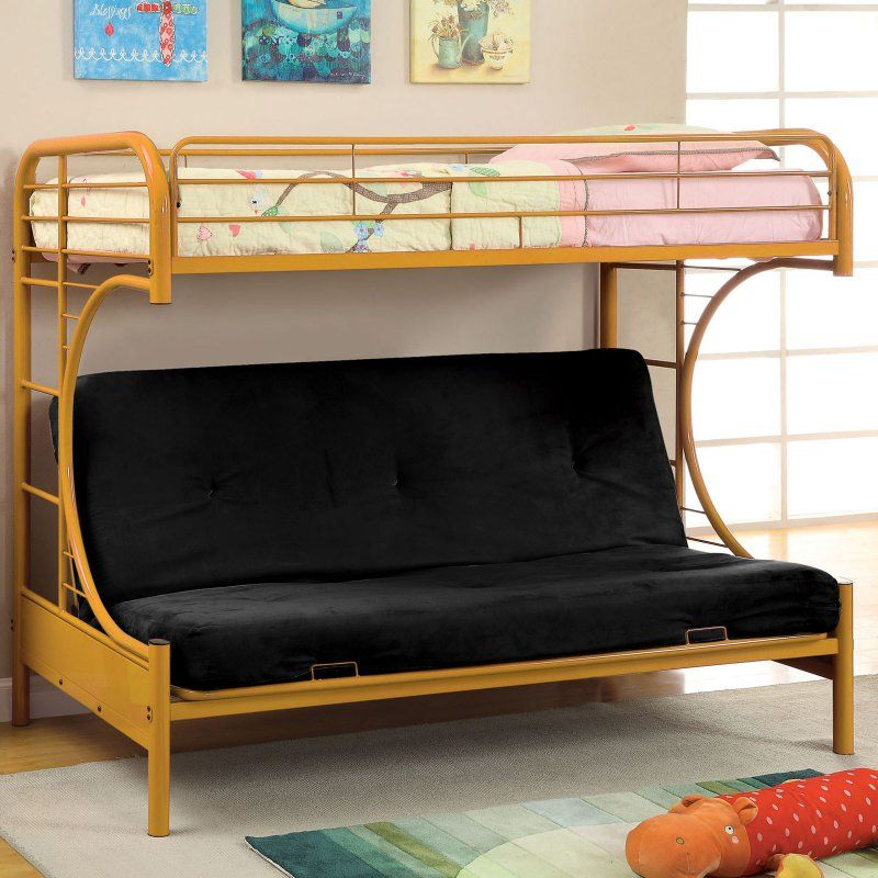 Ravens Contemporary Twin Over Futon Bunk Bed Idf Bk1034 Or