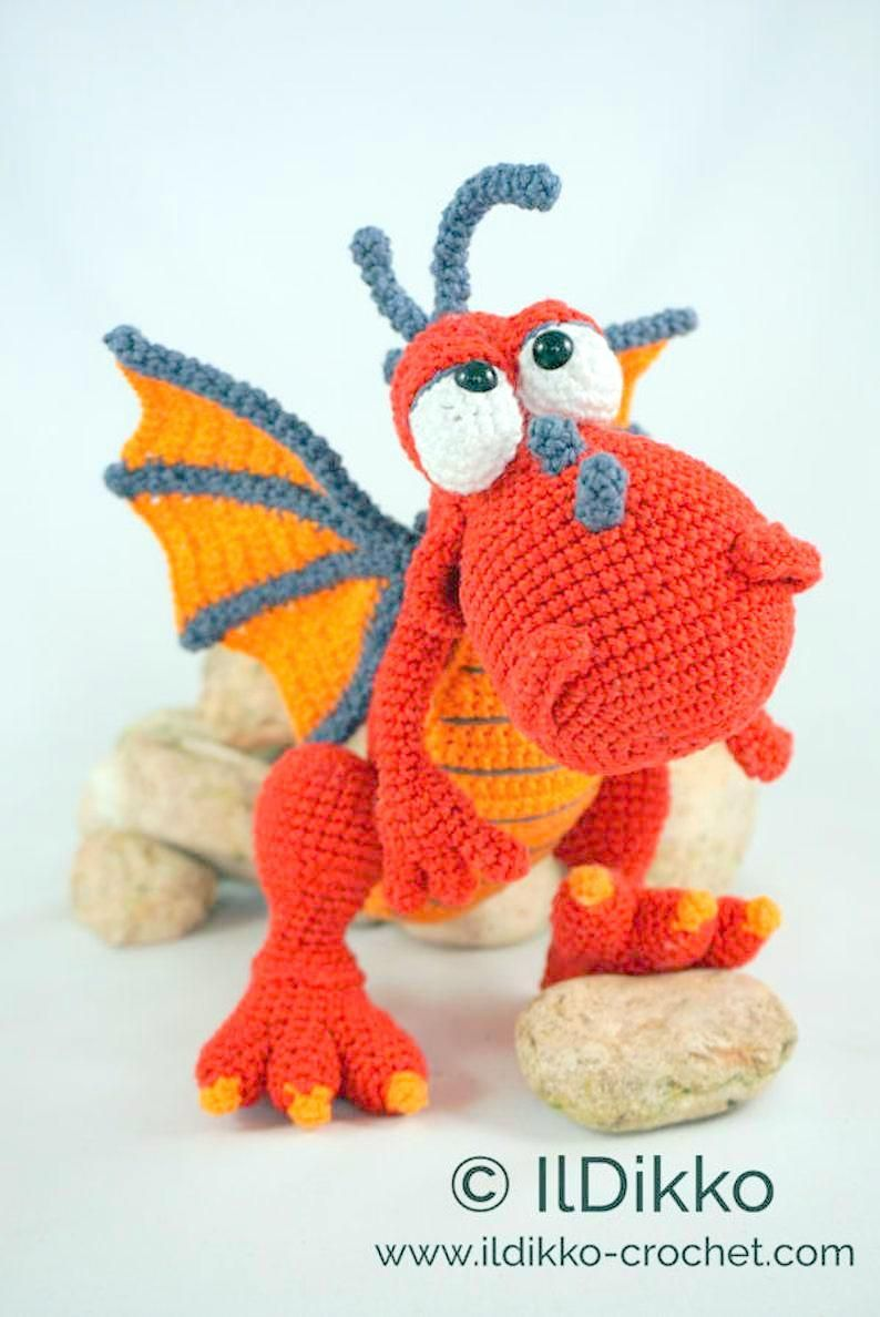 Even More Dragon Crochet Patterns! - AmVaBe Crochet | 1188x794