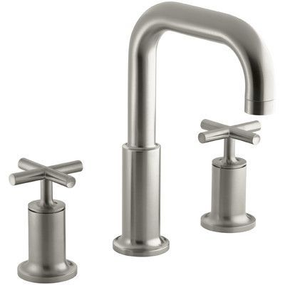 Kohler Purist Deck-Mount Bath Faucet Trim for High-Flow Valve with Cross Handles, Valve Not Included Finish: