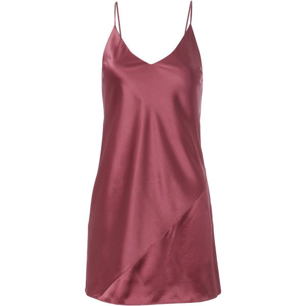0307e801609bb Fleur Du Mal Nectar Mini Slip Dress ($149) ❤ liked on Polyvore featuring  dresses